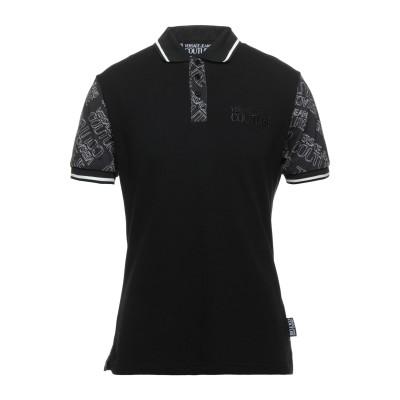 VERSACE JEANS COUTURE ポロシャツ ブラック 46 コットン 100% / ポリエステル / ナイロン / ポリウレタン ポロシ