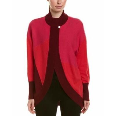 Red  ファッション 衣類 St. John Cashmere Cardigan L Red