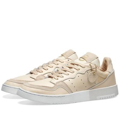 アディダス Adidas メンズ スニーカー シューズ・靴 Supercourt Linen/White/Gold