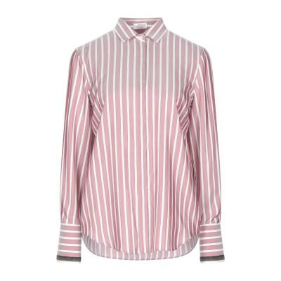 ブルネロ クチネリ BRUNELLO CUCINELLI シャツ パステルピンク S シルク 100% / 真鍮/ブラス シャツ