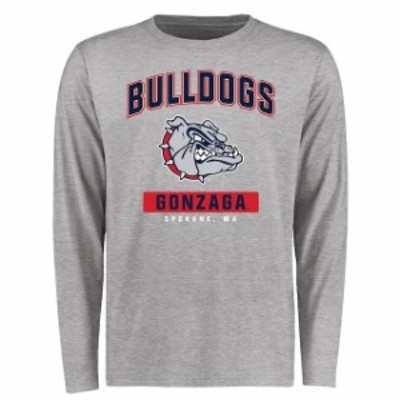Fanatics Branded ファナティクス ブランド スポーツ用品  Gonzaga Bulldogs Ash Big & Tall Campus Icon Long Sleeve T-Shirt
