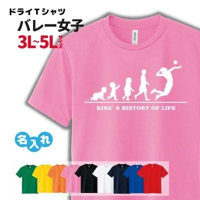 バレー Tシャツ ドライ  3L 4L 5L 名入れ  レディース 女  チーム (HOL 女子 B)