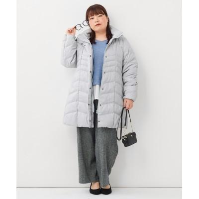 大きいサイズ すっきり見えあったかVラインダウンコート ,スマイルランド, コート, plus size coat