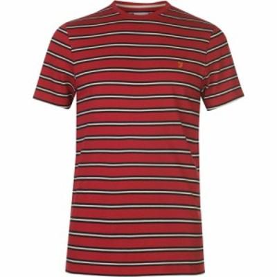 ファーラーヴィンテージ Farah Vintage メンズ Tシャツ トップス Farah House Stripe T Shirt FIRE BRICK