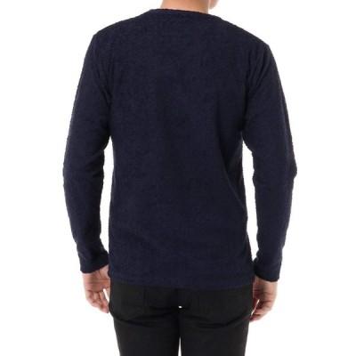 アズールバイマウジー tシャツ MEN'Sスラブパイルクルーネック長袖PO 251BST80-203C XS ネイビー メンズ