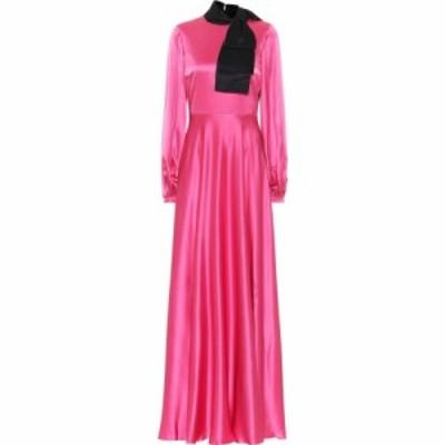 ロクサンダ Roksanda レディース パーティードレス ワンピース・ドレス lela silk-satin gown Midnight/French Pink