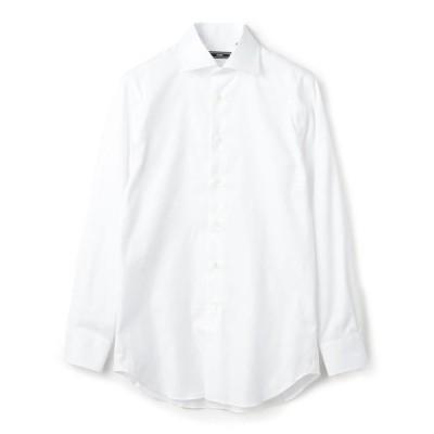【シップス メン】SD: イージーアイロン オックスフォード ソリッド ワイドカラー シャツ