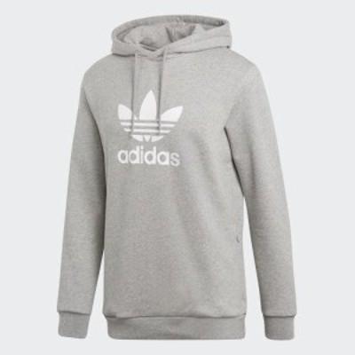 アディダス オリジナルス メンズ トレフォイル フーディ パーカー adidas originals Men's Trefoil Hoodie Medium Grey Heather 送料無料