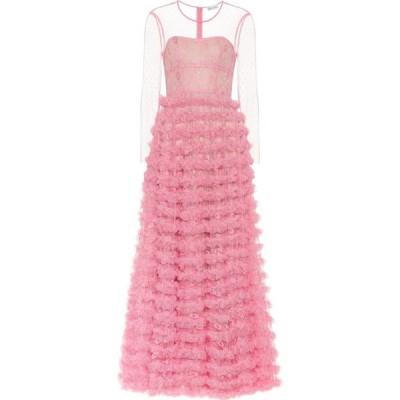 レッド ヴァレンティノ REDValentino レディース パーティードレス ワンピース・ドレス Lace-trimmed tulle gown Peach Blossom