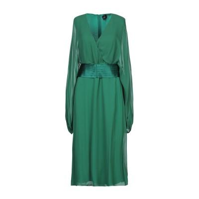 アトス ロンバルディーニ ATOS LOMBARDINI 7分丈ワンピース・ドレス グリーン 40 レーヨン 100% / ポリエステル / ポリウ