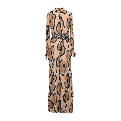 ジャストカヴァリ JUST CAVALLI ロングワンピース&ドレス サンド 38 レーヨン 81% / シルク 19% ロングワンピース&ドレス