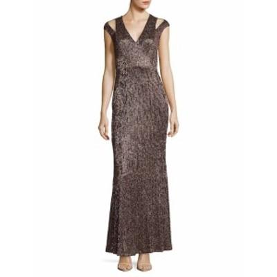 カルバンクライン レディース ワンピース Cold-Shoulder Mermaid Gown