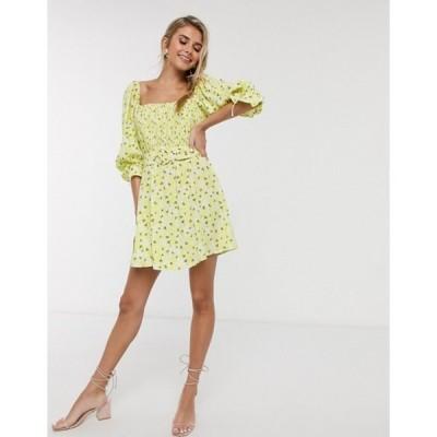 フォーラブアンドレモン レディース ワンピース トップス For Love & Lemons Chrysanthemum mini dress