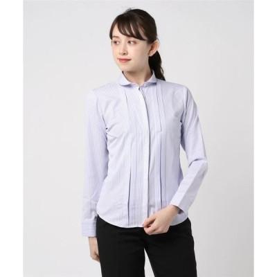 形態安定ノーアイロン ラウンド衿 長袖ビジネスワイシャツ
