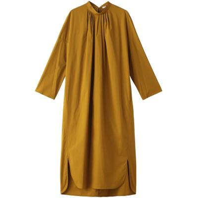 ENFOLD エンフォルド SOMELOS タックリラックス ドレス・ワンピース レディース ダークイエロー 36
