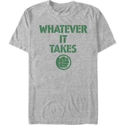 マーベル Marvel メンズ Tシャツ トップス Avengers Endgame Whatever It Takes Hulk Logo, Short Sleeve T-shirt Athletic H