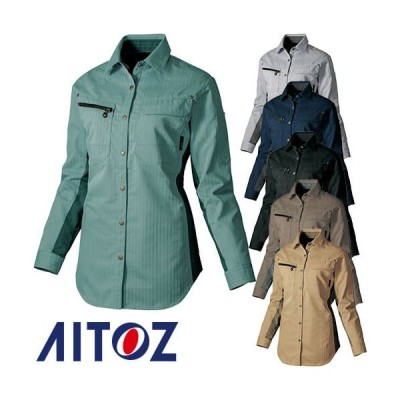 AITOZ アイトス レディース長袖シャツ(薄地) AZ-30645