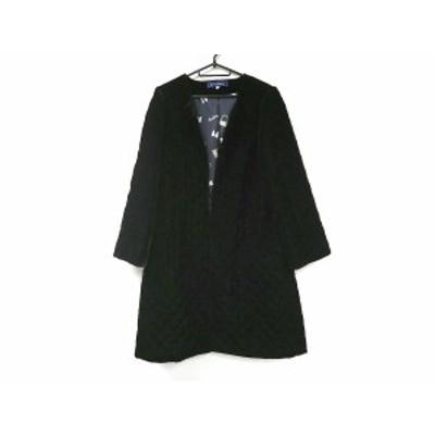 エムズグレイシー M'S GRACY コート サイズ42 L レディース 黒 ベロア/キルティング/冬物【中古】20200619