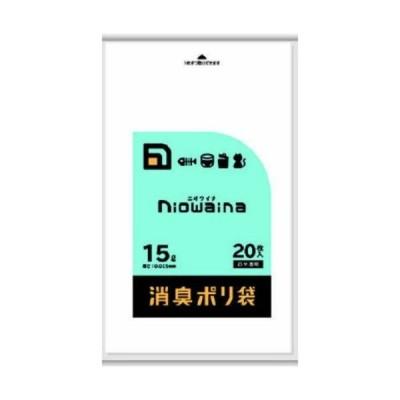 日本サニパック SS15 ニオワイナ 消臭袋 白半透明 15L 20枚入