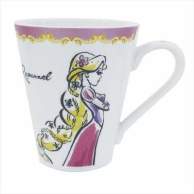 ◆塔の上のラプンツェル マグカップ/ファッショナブルプリンセス(ディズニーアニメ、マグカップ おしゃれ コップ マグ 食器  (365)