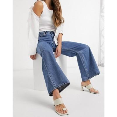 ウィークデイ Weekday レディース ジーンズ・デニム ワイドパンツ ボトムス・パンツ Ace Organic Cotton High Waist Wide Leg Jeans In Mid Blue ブルー