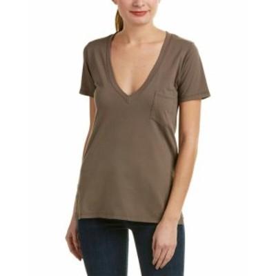 ファッション トップス Caleigh & Clover Violet T-Shirt Xs Grey