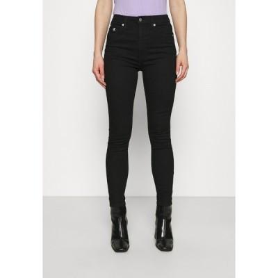 カルバンクライン デニムパンツ レディース ボトムス HIGH RISE ANKLE - Jeans Skinny Fit - denim black