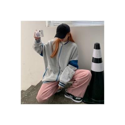 【送料無料】~ 韓国風 ルース 着やせ トレンドカラー 裏起毛 長袖セーター アウター   346770_A64486-8185511