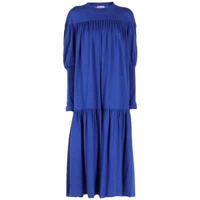 マルニ MARNI 7分丈ワンピース・ドレス ブルー 42 100% コットン 7分丈ワンピース・ドレス
