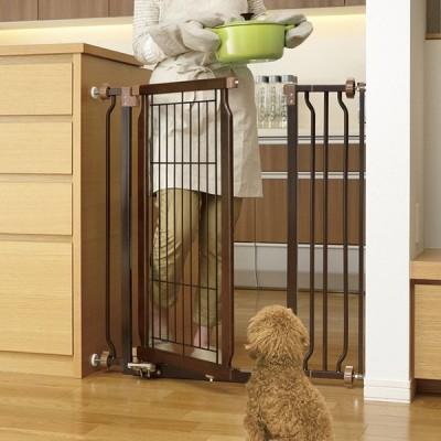 犬用 フェンス ゲート 通せんぼ ペット Richell リッチェル ペット用木製ハンズフリーゲート