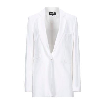 アン ドゥムルメステール ANN DEMEULEMEESTER テーラードジャケット ホワイト 38 コットン 76% / リネン 24% テーラー