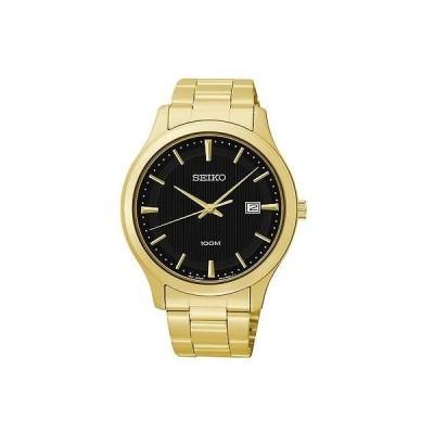 セイコー New Seiko メンズ SUR088 クォーツ ステンレス-スチール アナログ ブラック ダイヤル 腕時計