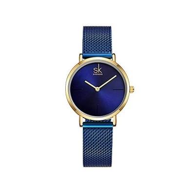 【新品・送料無料】SHENGKE レディース腕時計 ステンレススチールバンド レディース腕時計 防水 クォーツ レディースウォッチ K0043-BE。