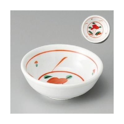 ☆ 小鉢 ☆ 赤絵花3.0鉢 [ 100 x 35mm ] 【料亭 旅館 和食器 飲食店 業務用 】