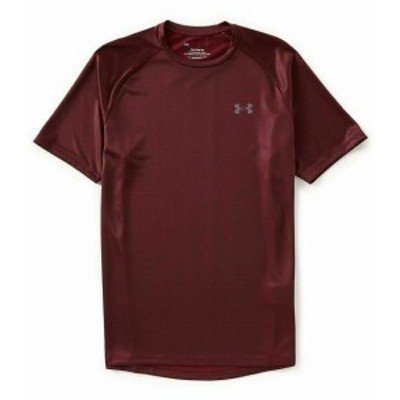 Under Armour アンダー アーマー ファッション トップス Under Armour Mens Shirt Red Size 2XL Activewear Short Sleeve The Tech #268