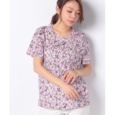 Leilian/レリアン レトロプリントTシャツ パープル系3 11