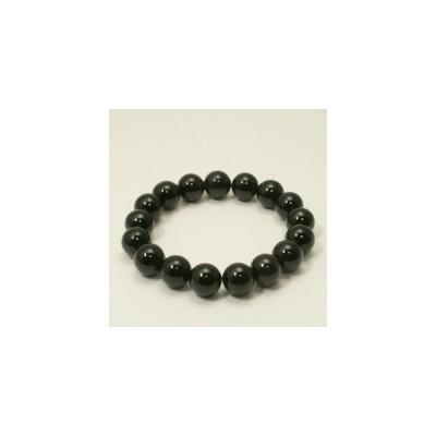 オニキス ブレスレット 10mm 16〜17cm S〜M サイズ 天然石 パワーストーン 瑪瑙 黒 ブラックオニキス オニキスブレスレット 天然石ブレス