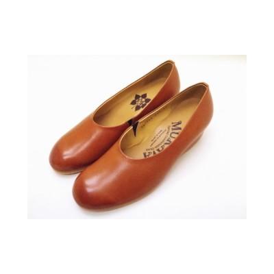 MUKAVA ムカヴァ レディース パンプス MU-984 ブラウン BROWN ウエッジヒール 靴