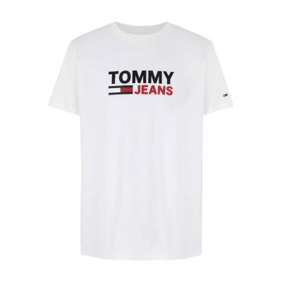 TOMMY JEANS T シャツ ホワイト M コットン 100% T シャツ