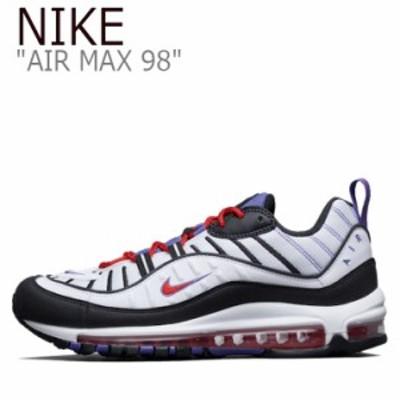 ナイキ エアマックス スニーカー NIKE メンズ AIR MAX 98 エア マックス 98 WHITE ホワイト PURPLE パープル 640744-110 シューズ