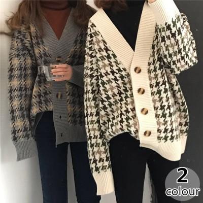2019 秋冬 ゆったり カーディガン ニットトップス ファッション カジュアル セーター コート 女性 韓国ファッション ニット ブルゾン レディース ジャケット 長袖