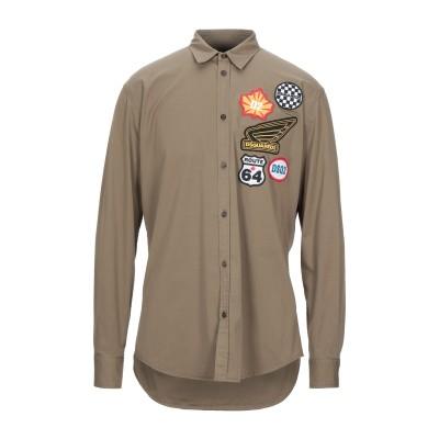ディースクエアード DSQUARED2 シャツ ミリタリーグリーン 48 コットン 97% / ポリウレタン 3% シャツ