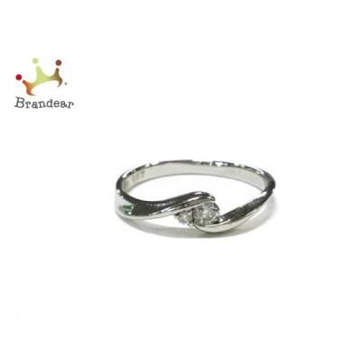 クミキョク 組曲 KUMIKYOKU リング 美品 - Pt900×ダイヤモンド 2Pダイヤ/ダイヤ0.07カラット  値下げ 20210921
