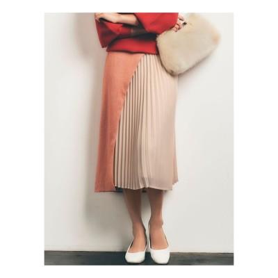 LAGUNAMOON 【COLLABORATION】LADYヘリンボーンスカート(オレンジ)