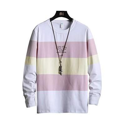 秋服 メンズ tシャツ トレーナー 長袖 大きいサイズ 上質 着心地 カジュアル 人気 秋冬服(cxtx01-hong-3XL