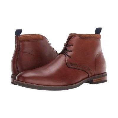 Florsheim フローシャイム メンズ 男性用 シューズ 靴 ブーツ チャッカブーツ Uptown Plain Toe Chukka Boot - Cognac Leather/Suede