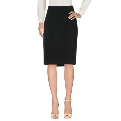 モスキーノ チープアンドシック MOSCHINO CHEAP AND CHIC ひざ丈スカート ブラック 42 ウール 100% ひざ丈スカート