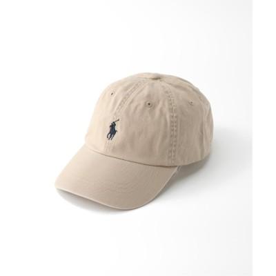 メンズ エディフィス 【POLO RALPH LAUREN / ポロ ラルフ ローレン】CLASSIC SPORT CAP ベージュ フリー