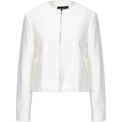 BOUTIQUE MOSCHINO テーラードジャケット アイボリー 40 ポリエステル 95% / 指定外繊維 5% テーラードジャケット