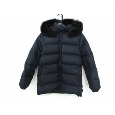 モンクレール MONCLER ダウンジャケット サイズ0 XS レディース - 47352-90-69950 ネイビー 冬物【中古】20200229